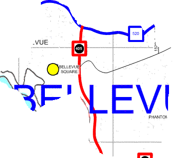 Bellevue Map
